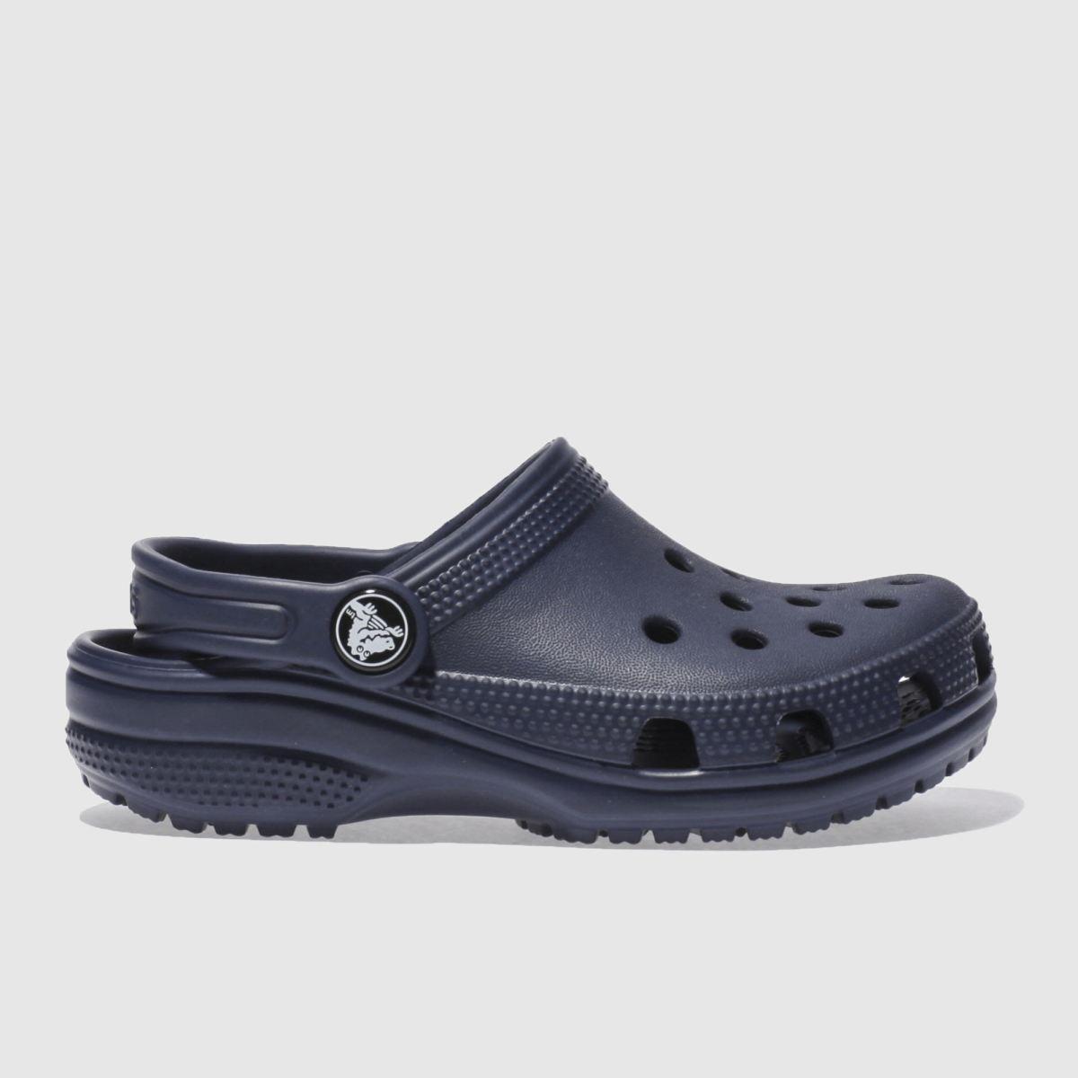 Crocs Crocs Navy Classic Clog Sandals Junior