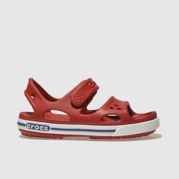 Crocs Red CROCBAND II SANDAL Unisex Junior