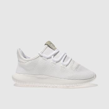Adidas White Tubular Shadow Unisex Junior
