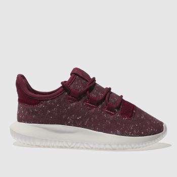 Adidas Burgundy Tubular Shadow Unisex Junior