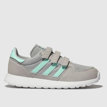 ADIDAS LIGHT GREY FOREST GROVE TRAINERS JUNIOR