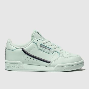 Adidas Light Green Continental 80 Unisex Junior