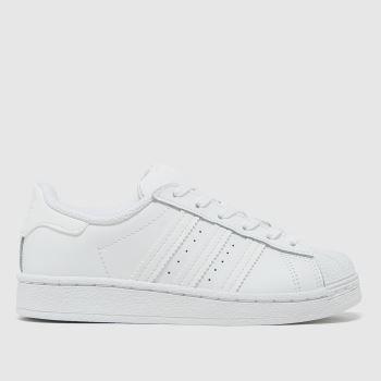 adidas White Superstar Unisex Junior