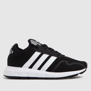 adidas Black & White Swift Run X Unisex Junior
