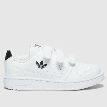 adidas White & Black Ny90 3v Unisex Junior