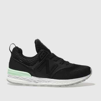 New Balance Black 574 Sport Unisex Junior