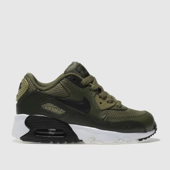Nike Khaki Air Max 90 Mesh Unisex Junior