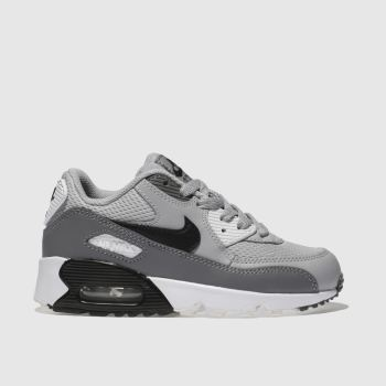 Nike Light Grey Air Max 90 Mesh Unisex Junior