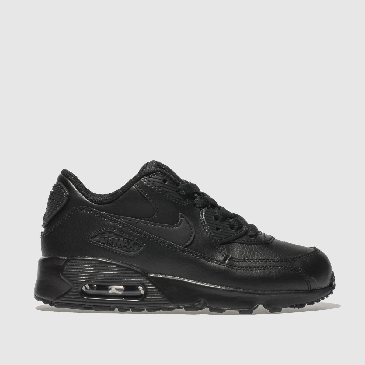 831e4f72b21c Nike Black Air Max 90 Leather Trainers Junior
