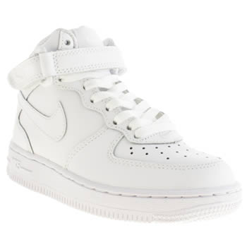 los angeles 47f82 cc6d5 NIKE WHITE AIR FORCE 1 MID 06 TRAINERS JUNIOR