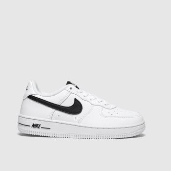 Nike White & Black Air Force 1 Unisex Junior