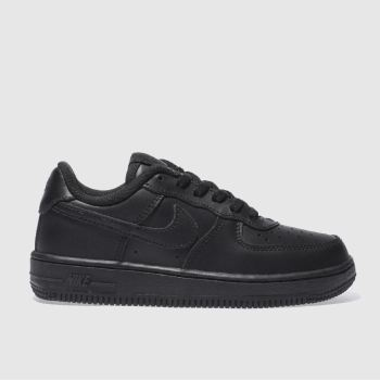 Nike black air force 1 trainers junior