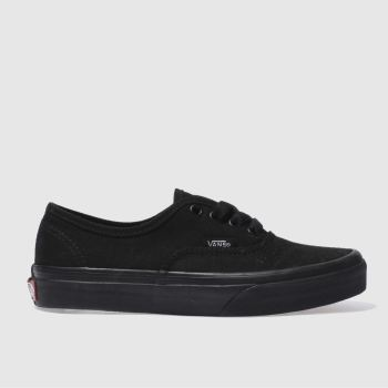 vans black authentic trainers junior