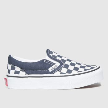 Vans Navy Classic Slip-on Unisex Junior#
