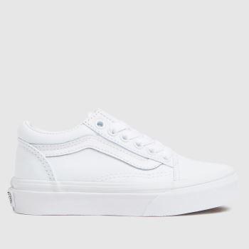 Vans White Old Skool Unisex Junior