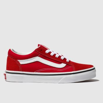 Vans Red Old Skool Unisex Junior