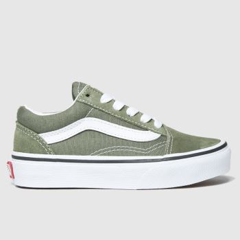 Vans Khaki Old Skool Unisex Junior#