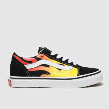 Vans Black & Red Old Skool Unisex Junior#