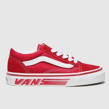 Vans Red Old Skool Unisex Junior#