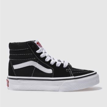 7ede979210 Vans Black   White Sk8-Hi Unisex Junior