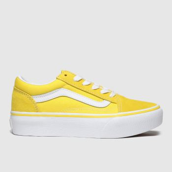 Vans Yellow Old Skool Platform Unisex Junior