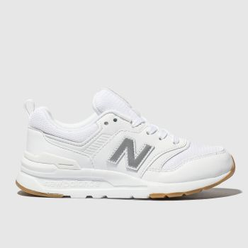 New Balance White 997H Unisex Junior