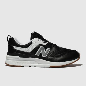 New Balance Black & White 997H Unisex Junior