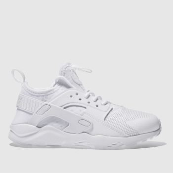 nike huarache junior white