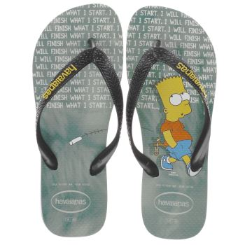 HAVAIANAS BLACK & GREEN SIMPSONS JUNIOR SANDALS