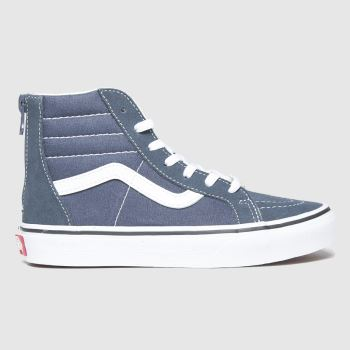 Vans Navy Sk8-hi Zip Unisex Junior#