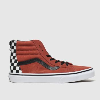 Vans Brown & Black Sk8-hi Zip Unisex Junior