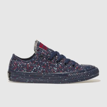 Converse Navy & Red CHUCK TAYLOR ALL STAR LO Unisex Junior