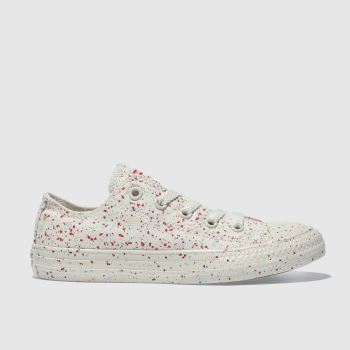 Converse Cream & Red All Star Lo Unisex Junior