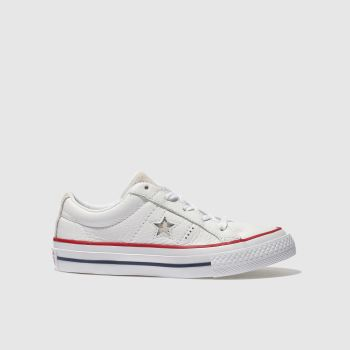 Converse White & Red ONE STAR OX Unisex Junior