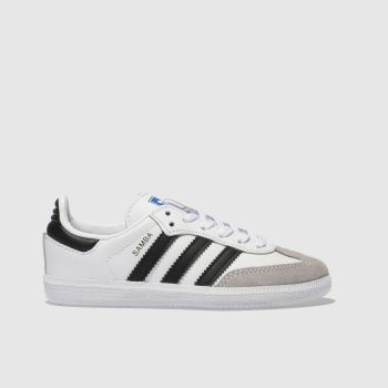adidas White & Black Samba Og Unisex Junior