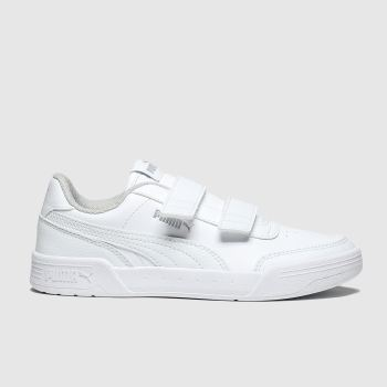 Puma White Caracal Unisex Junior