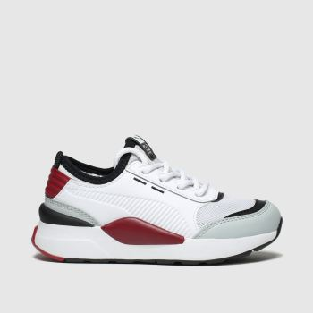 Puma White & Red Rs-0 Smart Unisex Junior