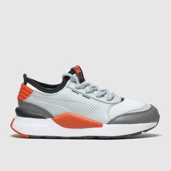 Puma White & grey Rs-0 Smart Unisex Junior