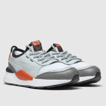 puma white & grey rs 0 smart trainers junior