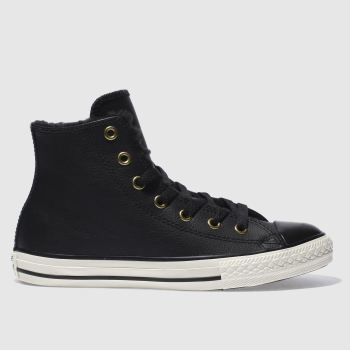Converse Black ALL STAR HI SHEARLING Unisex Junior