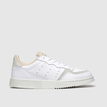 Adidas White & Beige Supercourt Unisex Junior