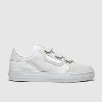 Adidas White & grey Continental Vulc Cf Unisex Junior#
