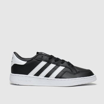 Adidas Black & White Team Court c2namevalue::Unisex Junior