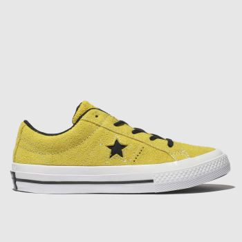 CONVERSE YELLOW ONE STAR LO TRAINERS JUNIOR