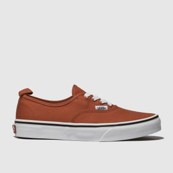 Vans Orange Authentic Elastic Lace Unisex Junior from Schuh