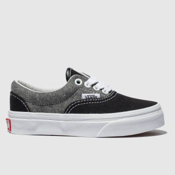Vans Grey & Black Era Unisex Junior