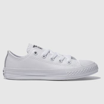 Converse White All Star Ox Leather Unisex Junior#