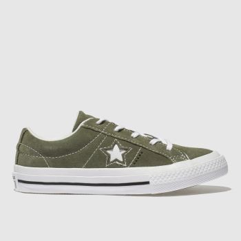 Converse Khaki One Star Vintage Suede Unisex Junior