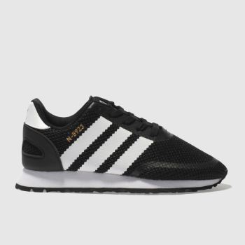 ADIDAS BLACK & WHITE N-5923 TRAINERS JUNIOR