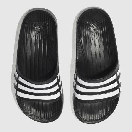 186f6cc1c1a Kids Unisex black   white adidas duramo slide trainers